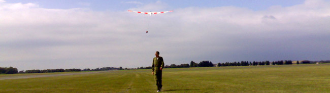 Instructor walking away from solo launch.